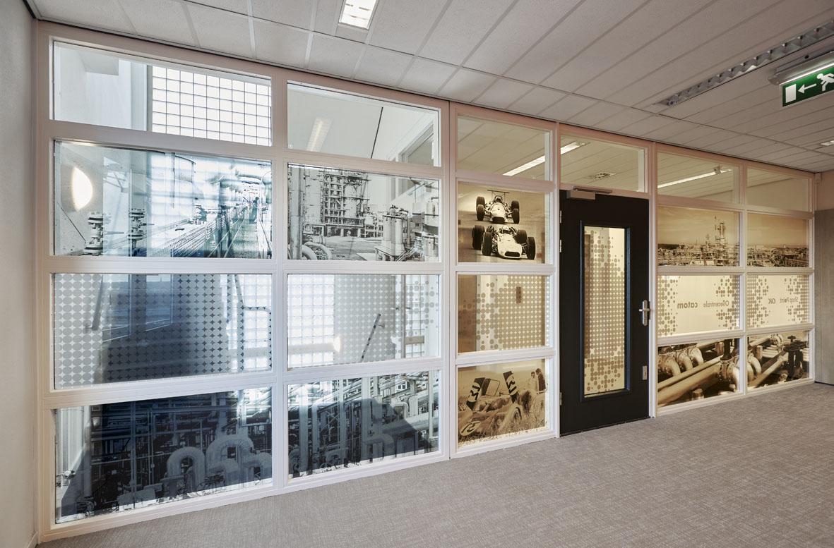 Geprinte glasfolies voor kantoor